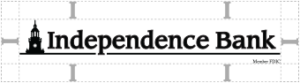 independence Bank cleared space logo