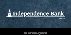 independence Bank on dark textured background logo