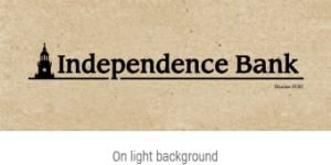 independence Bank on light textured background logo