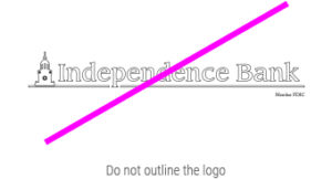 independence Bank unacceptable logo with bad outline