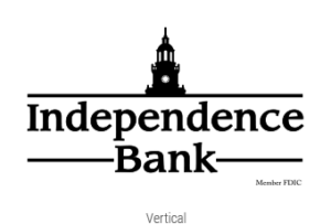 independence Bank black and white vertical logo